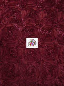 Rosette Style Taffeta Fabric Dark Burgundy