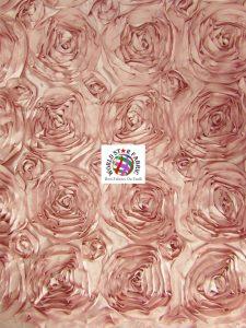 Rosette Style Taffeta Fabric Dusty
