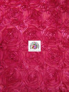 Rosette Style Taffeta Fabric Fuchsia