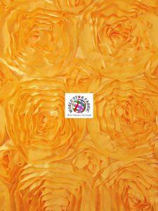Rosette Style Taffeta Fabric Gold
