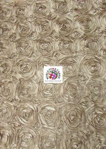 Rosette Style Taffeta Fabric Khaki