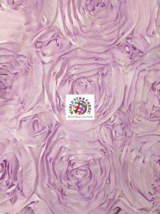 Rosette Style Taffeta Fabric Lilac