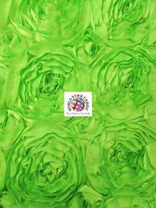 Rosette Style Taffeta Fabric Lime