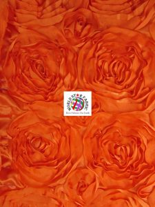 Rosette Style Taffeta Fabric Orange