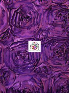 Rosette Style Taffeta Fabric Purple