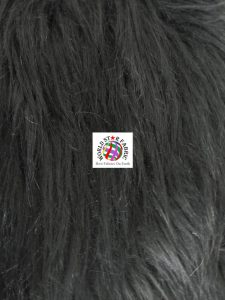 Wild Monster Fake Fur Fabric Black