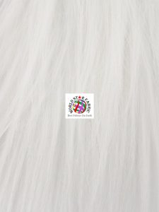 Wild Monster Fake Fur Fabric White