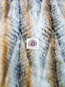Forest Deer Long Pile Faux Fur Fabric