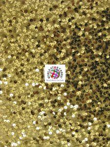 Gold Rain Drop Sequin Taffeta Bridal Gown Decor Fabric