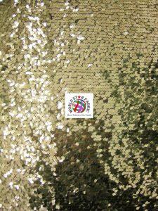 Light Gold Drop Sequins Mesh Fabric
