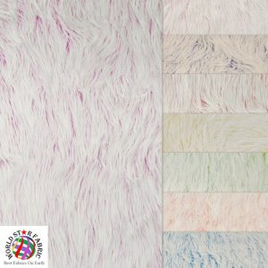 Frosted Grizzly Shaggy Fake Fur Fabric