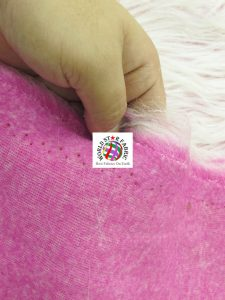 Frosted Grizzly Shaggy Fake Fur Fabric Backing