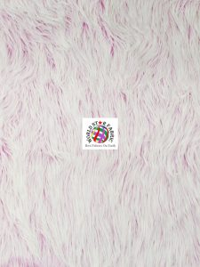 Frosted Grizzly Shaggy Fake Fur Fabric Fuchsia