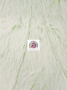 Frosted Grizzly Shaggy Fake Fur Fabric Green