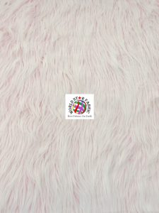 Frosted Grizzly Shaggy Fake Fur Fabric Pink