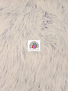 Frosted Grizzly Shaggy Fake Fur Fabric Royal Blue