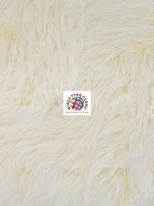 Frosted Grizzly Shaggy Fake Fur Fabric Yellow