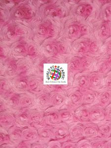 Fuchsia Rosette Floral Baby Soft Minky Fabric