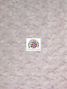 Light Pink Rosette Floral Baby Soft Minky Fabric
