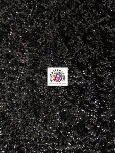 Seaweed Sequins Mesh Fabric Black