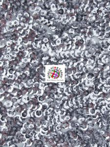 Seaweed Sequins Mesh Fabric Charcoal
