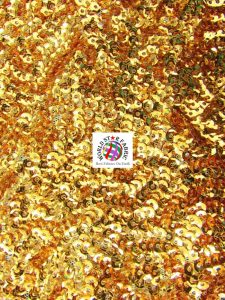 Seaweed Sequins Mesh Fabric Gold