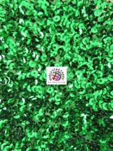 Seaweed Sequins Mesh Fabric Kelly