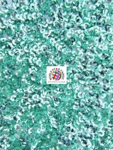 Seaweed Sequins Mesh Fabric Mint
