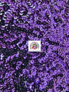 Seaweed Sequins Mesh Fabric Purple