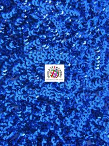 Seaweed Sequins Mesh Fabric Royal